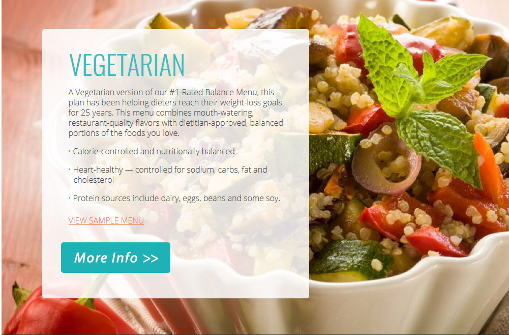 Vegetarian Meal Delivery Plan